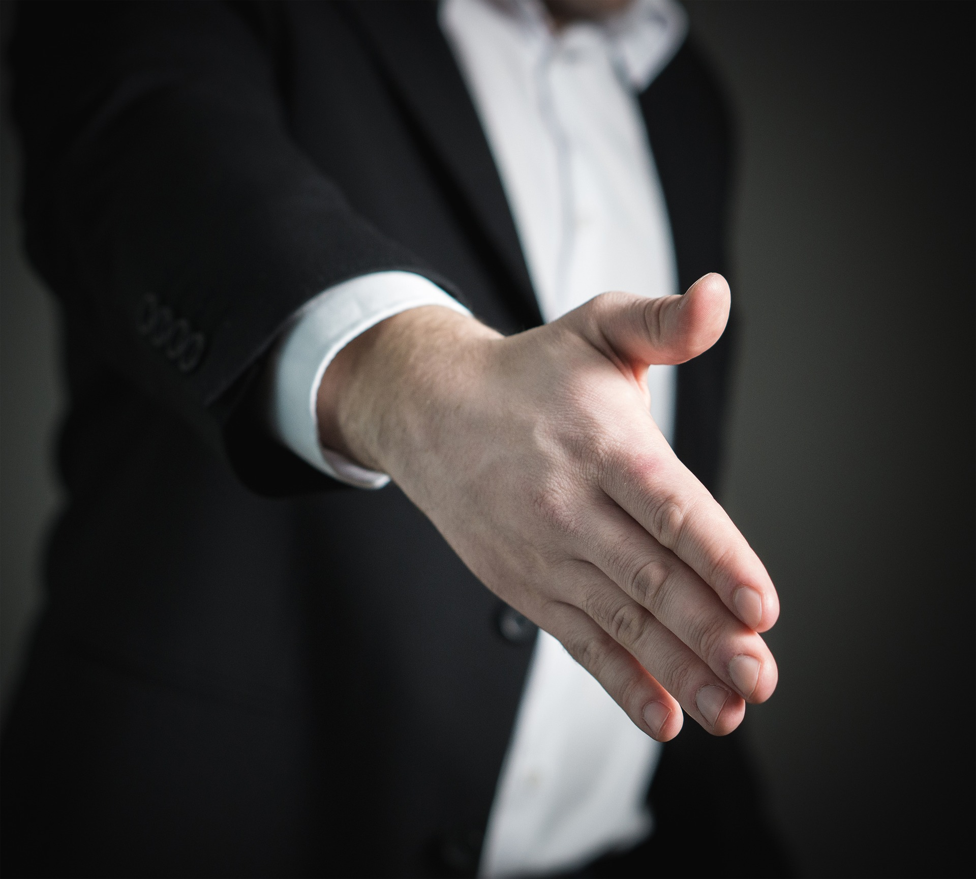 Handshake. represents offer from Chapter 13 Bankruptcy attorney