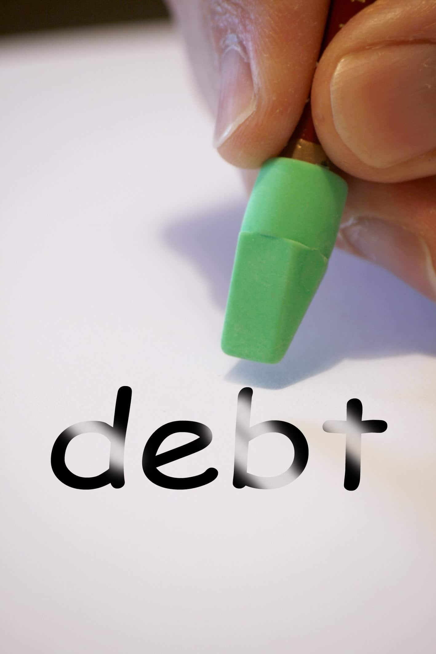 Debt being erased under chapter 11 or chapter 13 bankruptcy